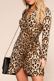 On The Prowl Leopard Wrap Dress | Main Strip