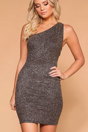 Own The Night Bronze Glitter Bodycon Dress | Shop Priceless