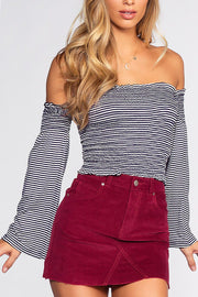 Pierce Off The Shoulder Top | Chocolate
