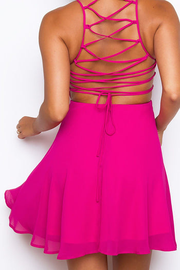 Roxy Dress - Raspberry | Listicle