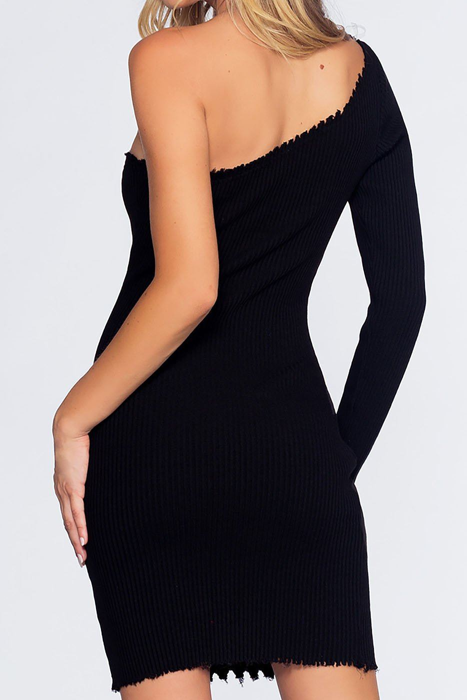 Rib Me Right Dress - Black | Better Be