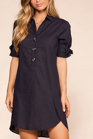 Sweet Spot Polka Dot Wrap Dress - Navy