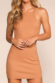 Two Please Bodycon Dress - Apricot | favlux