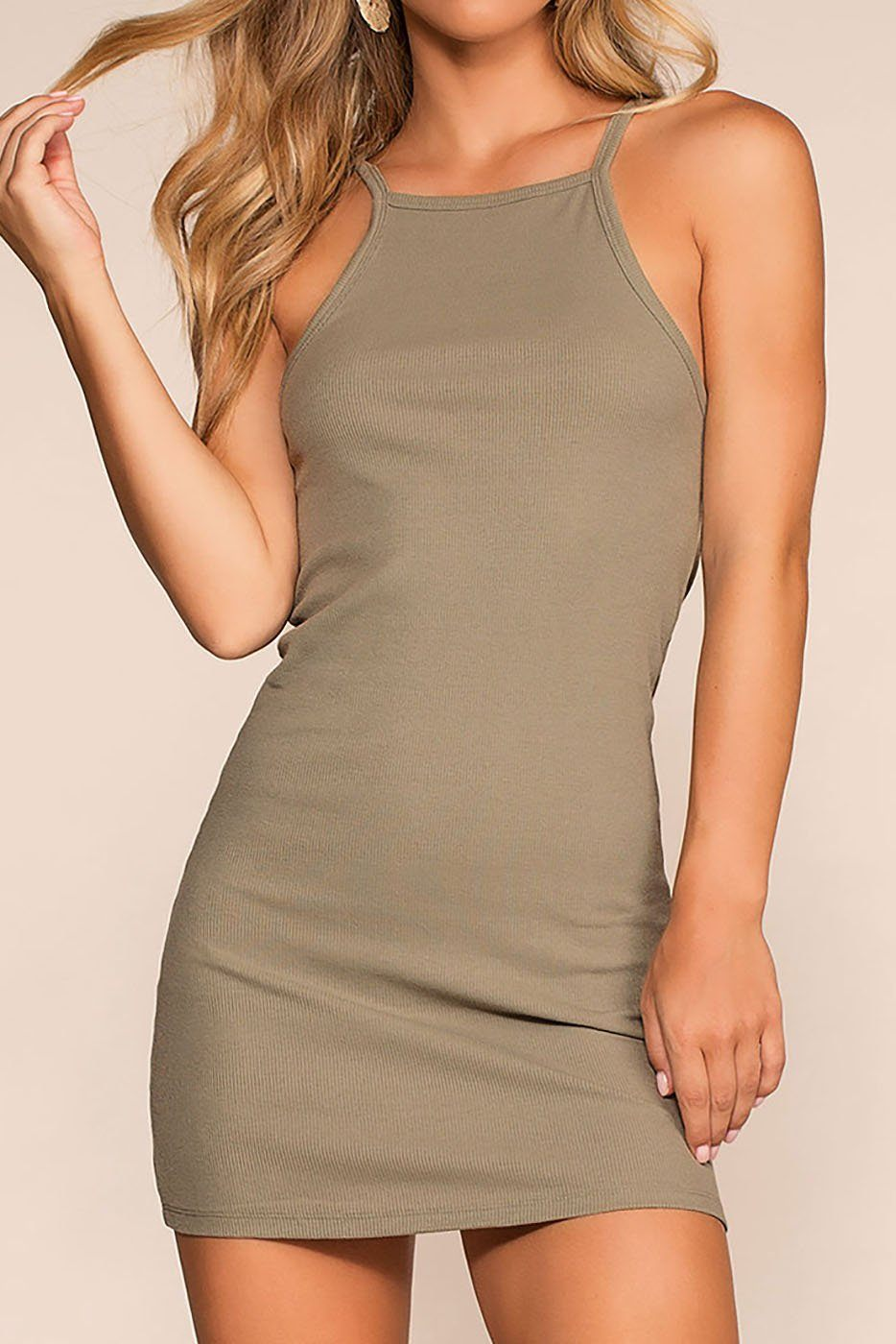 Two Please Bodycon Dress - Sage | favlux
