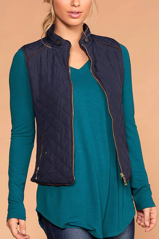 Vail Quilted Vest - Navy | Active Basic