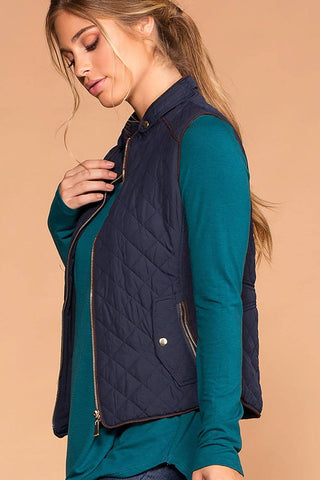 Vail Quilted Vest - Brown