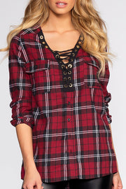 Winslow Plaid Top | Active Basic