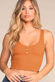 Forever Yours Button Top - Camel | Mezzanine