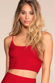 High Life Crop Tank Top - Red