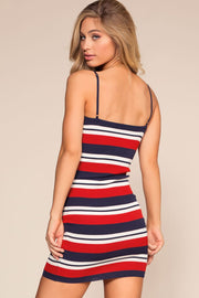 Red, White and Blue Bodycon Dress