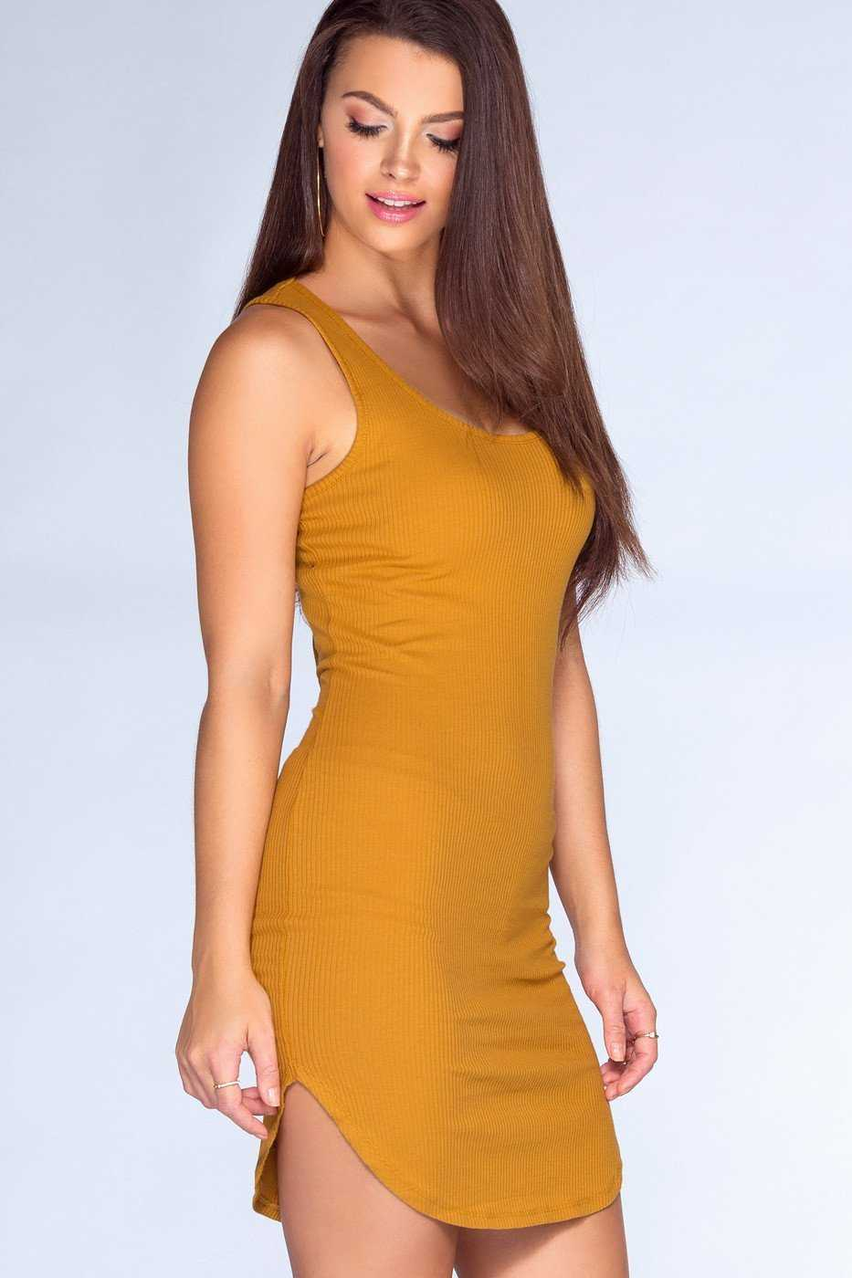Dresses - Aster Dress - Mustard