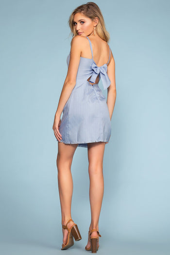 Blue Tie-Back Dress