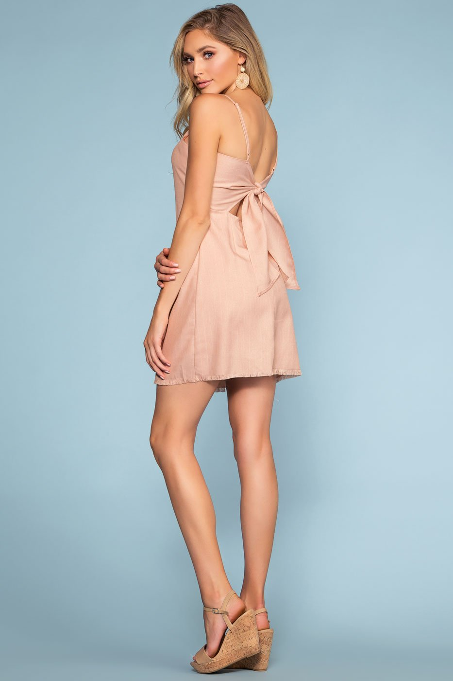 Blush Tie-Back Dress