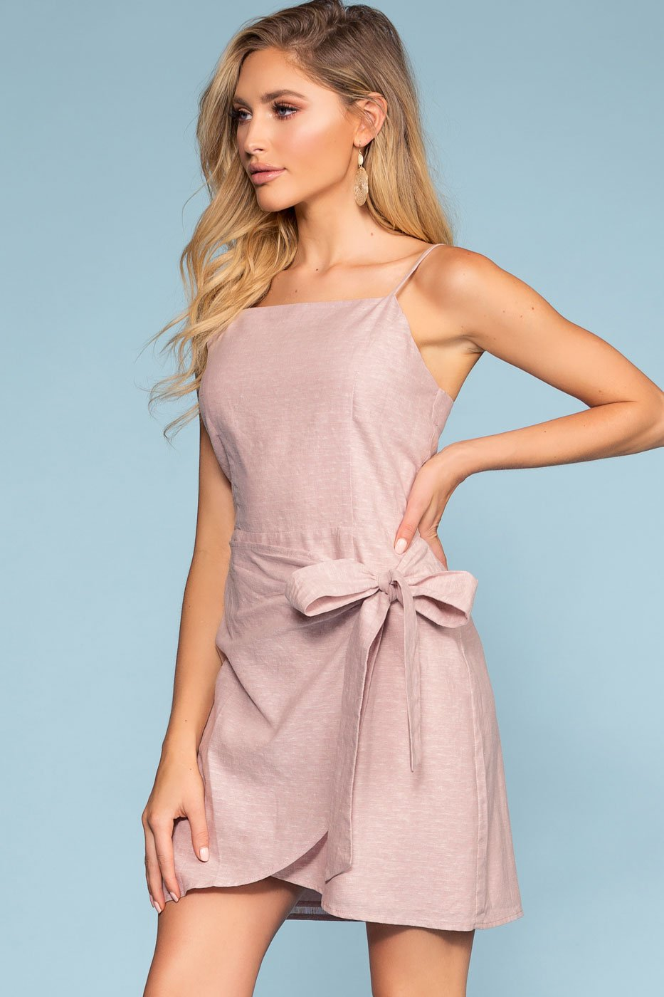 Mauve Wrap Dress
