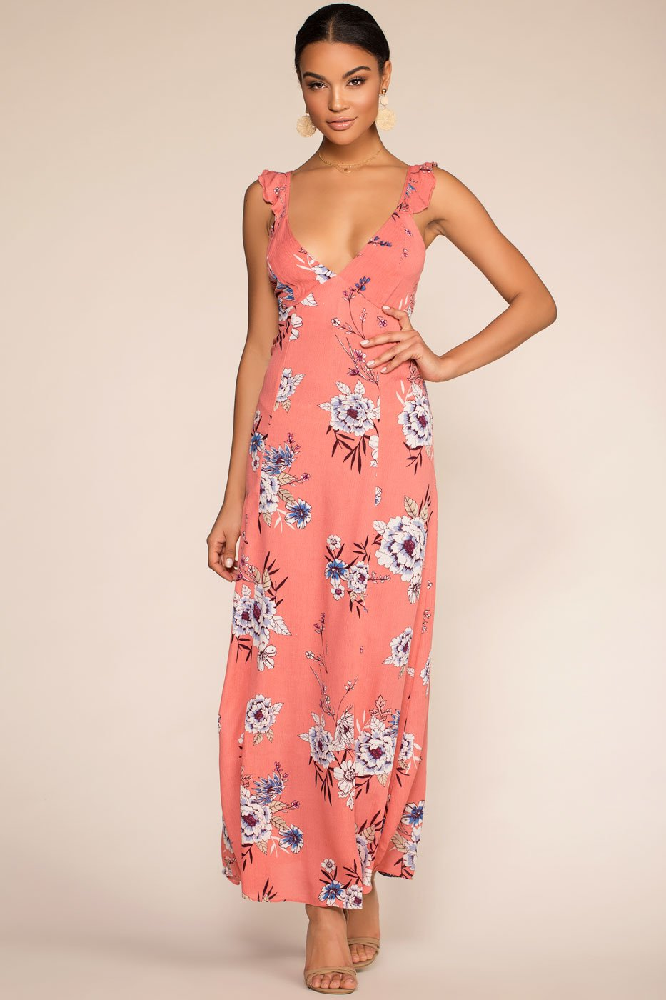 Dresses - Dream Away Maxi Dress - Mauve