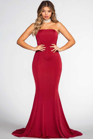 Right For You Maxi Dress - Burgundy