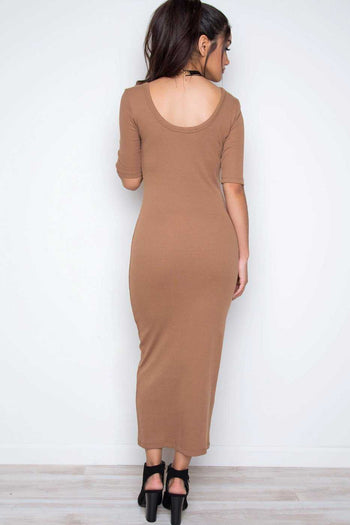 Dresses - Hadley Dress - Taupe