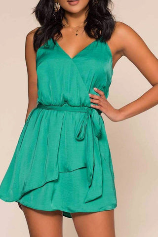 A Night To Remember Maxi Romper - Green
