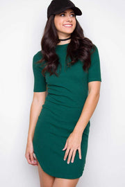 Dresses - Lala Ribbed Dress - Green