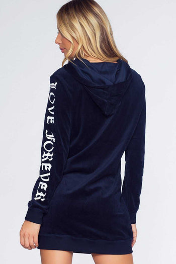 Dresses - Love Forever Sweatshirt Dress - Navy