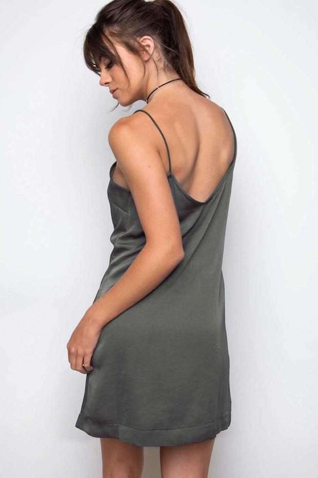 Dresses - Meet Me At Sunset Slip Dress - Olive