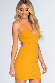 Dresses - Miami Vice Mini Dress - Mustard