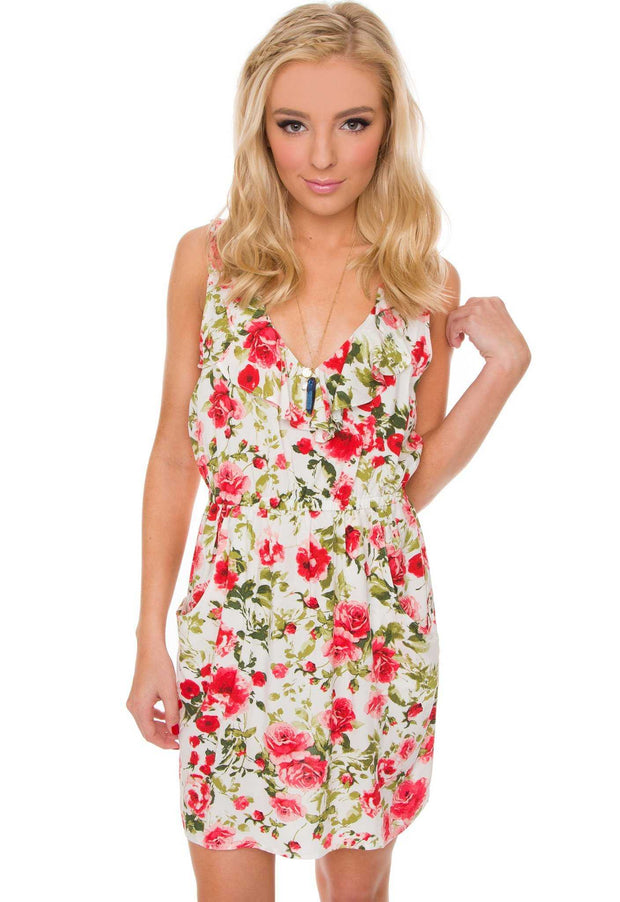 Dresses - Mika Floral Dress - White