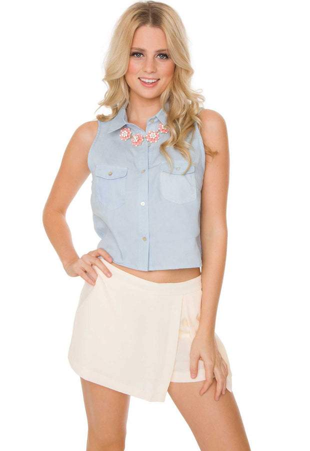 Dresses - Miley Denim Crop Top