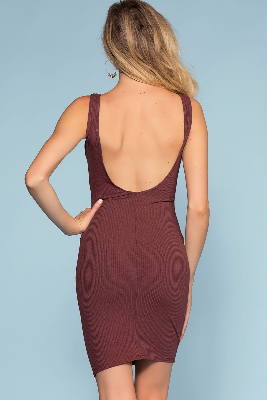 Dresses - Misty Bodycon Dress - Marsala