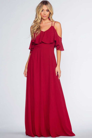 Dresses - Mythical Romance Maxi Dress - Merlot