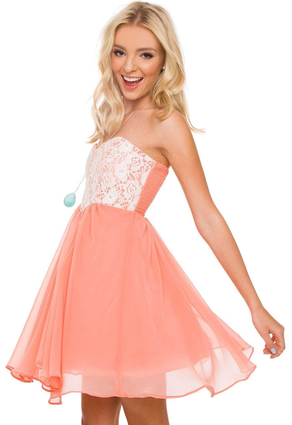 Dresses - Paris Dress In Peach