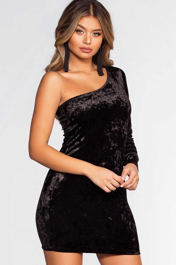 Dresses - Raquel Velvet Dress - Black