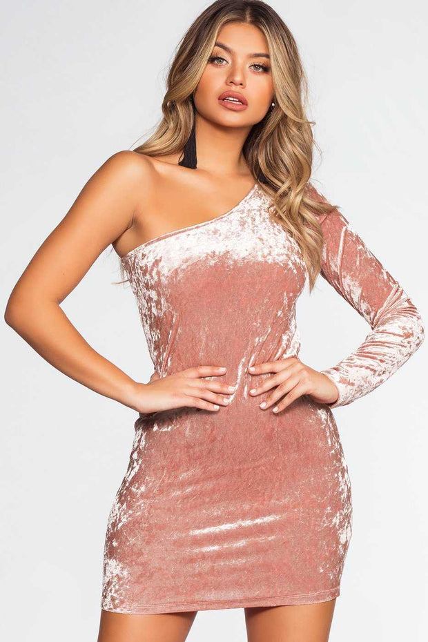 Dresses - Raquel Velvet Dress - Blush