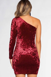 Dresses - Raquel Velvet Dress - Burgundy
