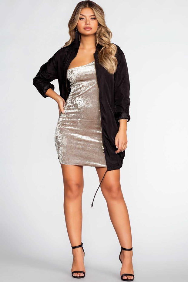 Dresses - Raquel Velvet Dress - Champagne