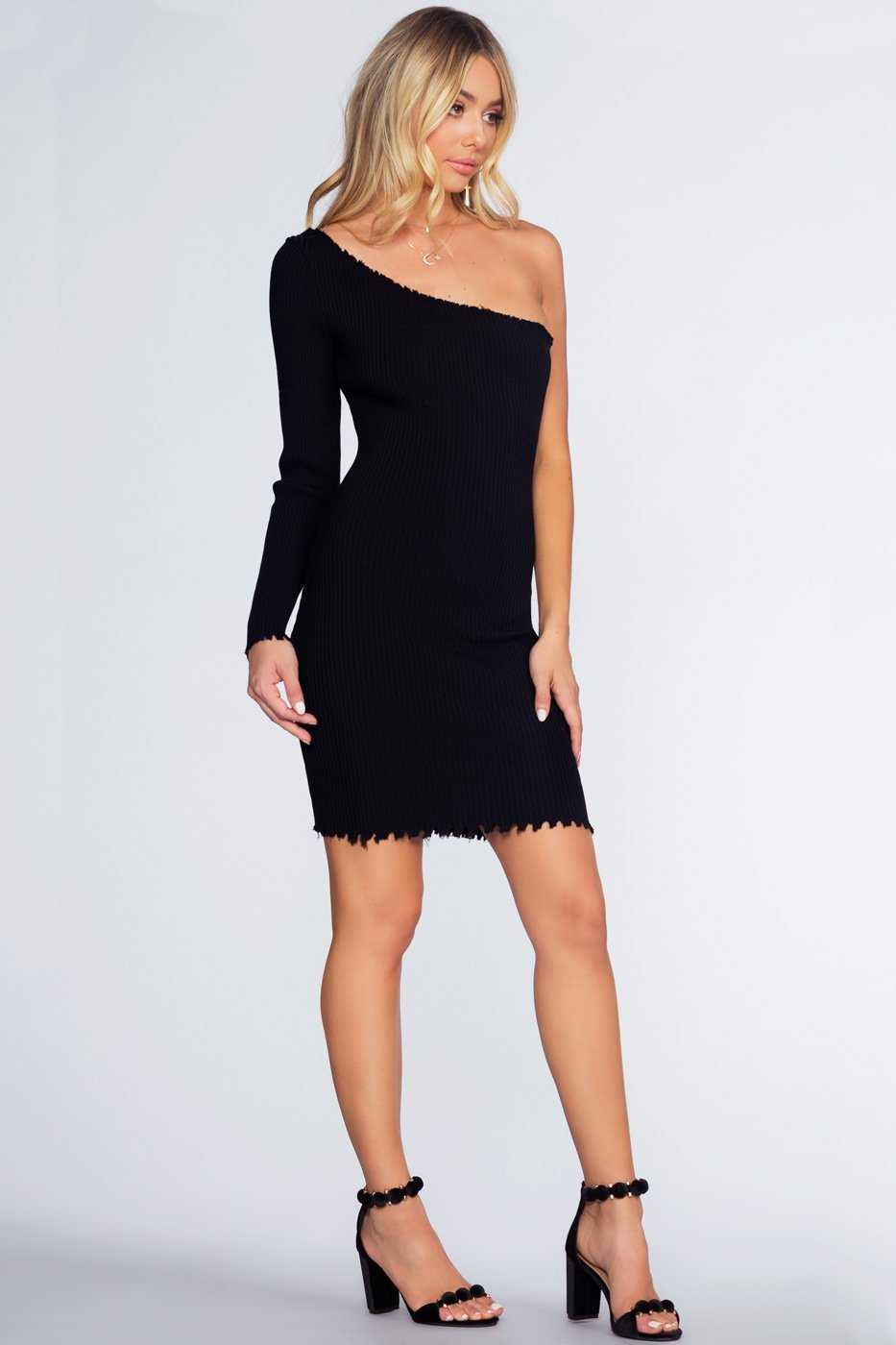 Dresses - Rib Me Right Dress - Black