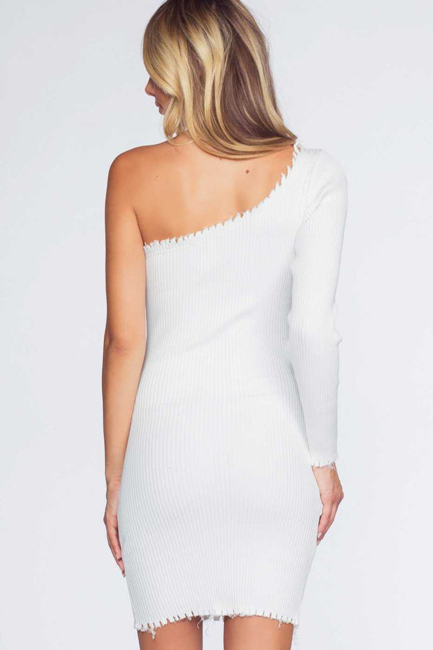 Dresses - Rib Me Right Dress - White