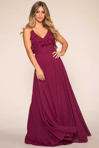 Demeter Wine Satin Mini Dress