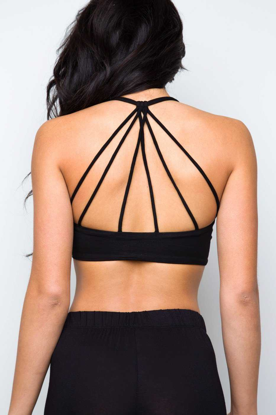 Dresses - Rita Caged Bralette - Black