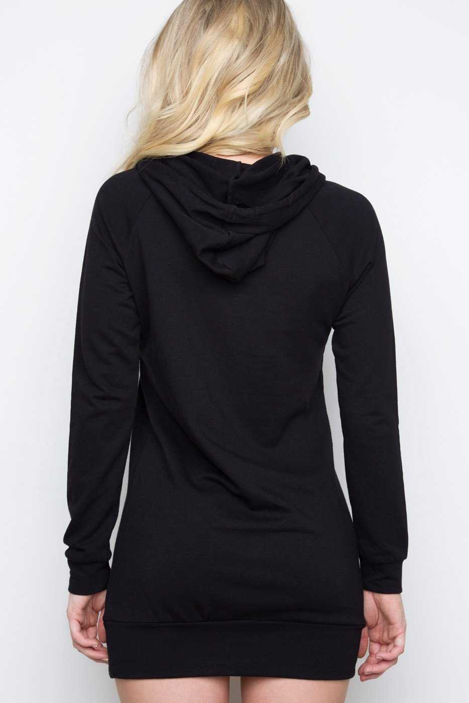 Dresses - Rogue Sweatshirt Dress - Black