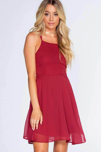 Roxy Dress - Burgundy | Listicle