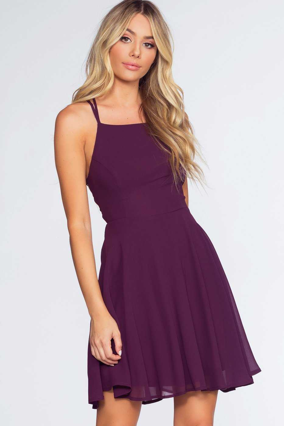 Dresses - Roxy Dress - Eggplant
