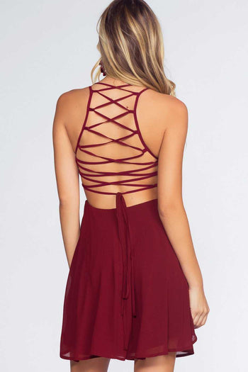 Dresses - Roxy Dress - Oxblood