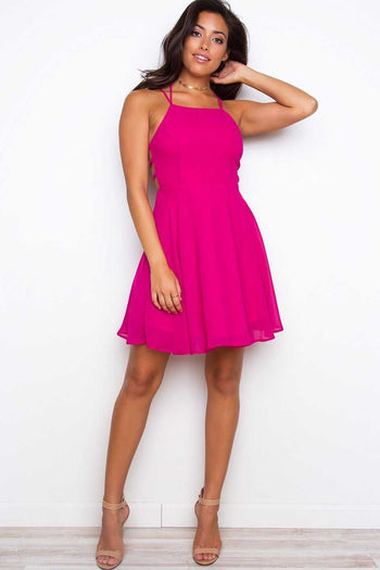 Dresses - Roxy Dress - Raspberry