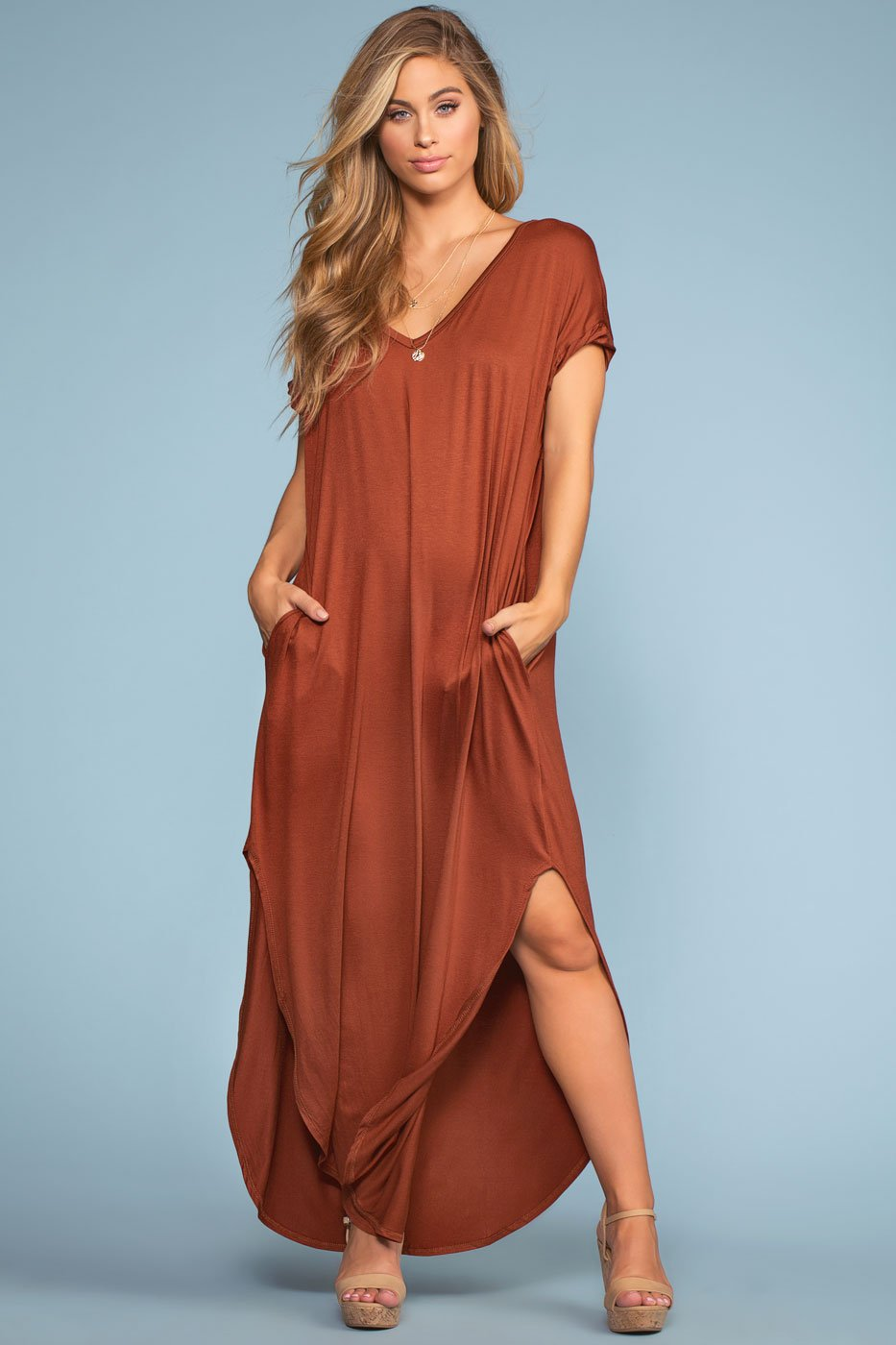 Dresses - Sand Dollar Maxi Dress - Cinnamon