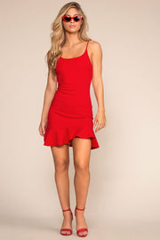 Dresses - Sassafras Bodycon Dress - Red
