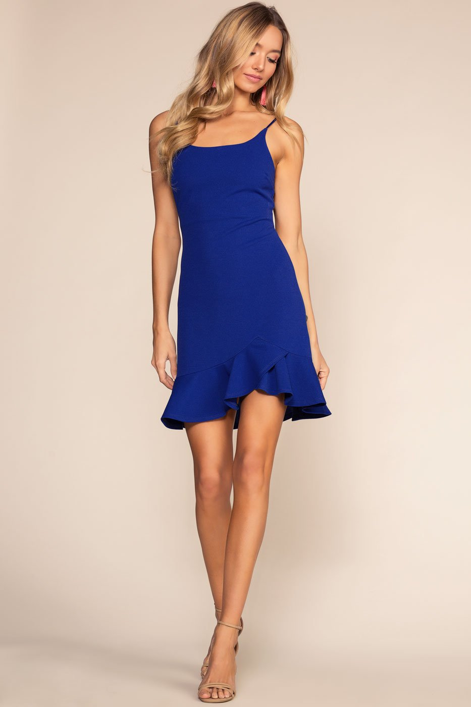 Dresses - Sassafras Bodycon Dress - Royal Blue