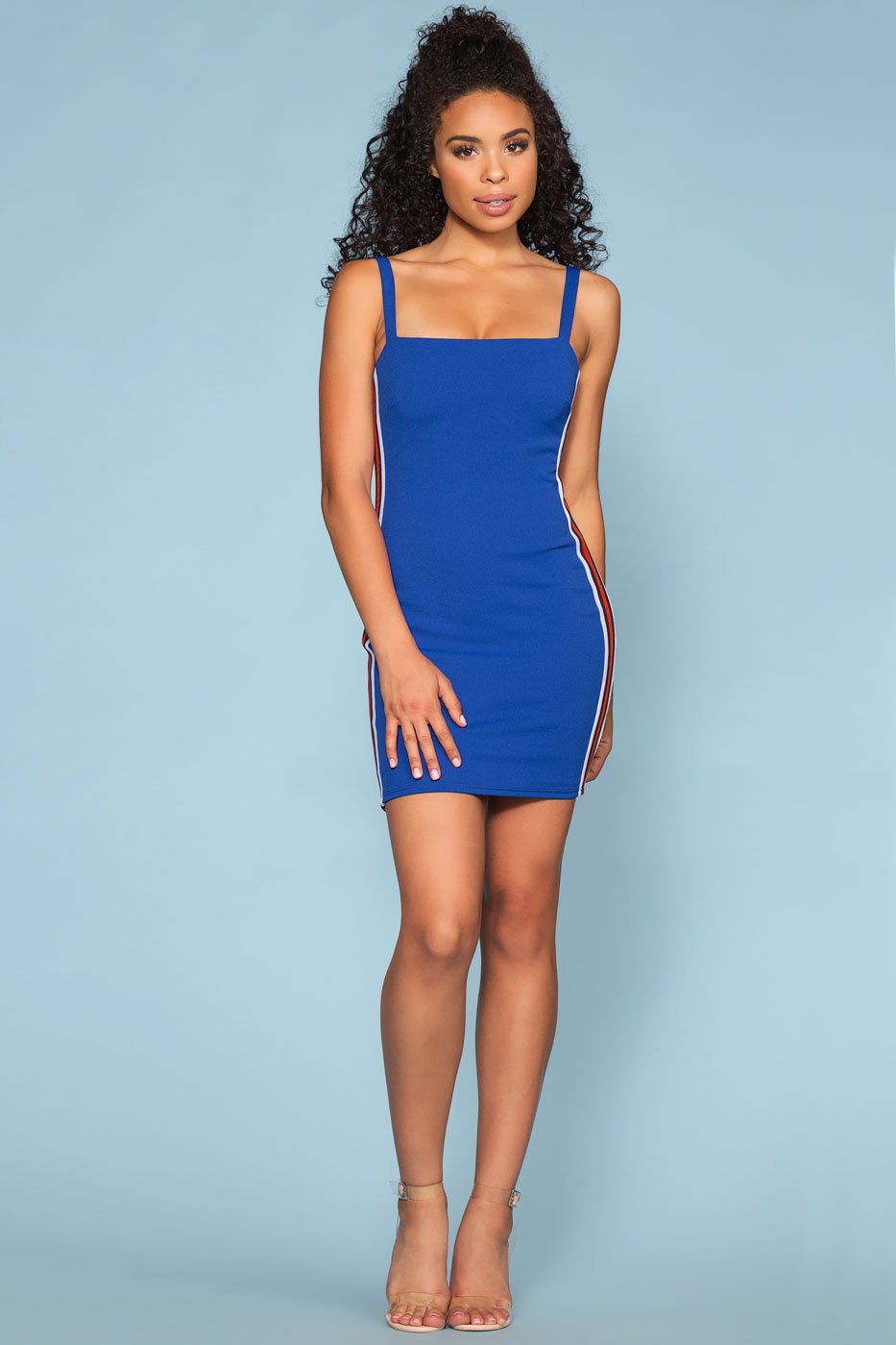 Dresses - Speedway Racer Bodycon Dress - Blue