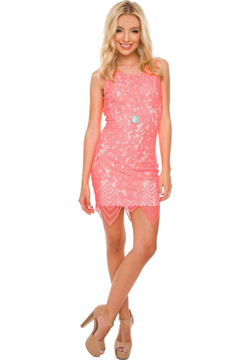 Dresses - Sugar, Sugar Dress - Coral