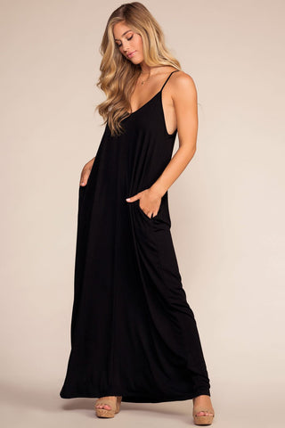 Raquel Velvet Dress - Black